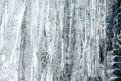 Ice Closeup. Ice Background Texture with Extreme Closeup Stock Photography