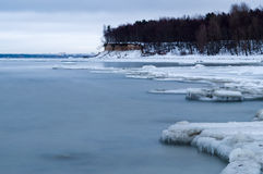 Ice-coated coast of baltic sea Stock Photos