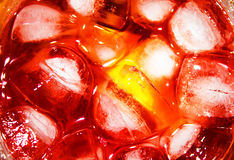 Ice cocktail. Close up photo of glass with cocktail and ice royalty free stock photos