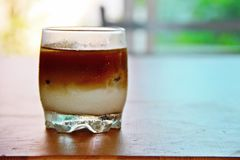 Ice cofee. Home made ice macchiato coffee Stock Photography