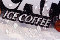 Ice Coffee. Fresh ice cool coffee stock photos