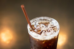 Ice coffee americano. Ice coffee americano stock images