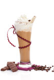 Ice coffee background. Royalty Free Stock Images