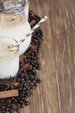 Ice coffee background Stock Photos