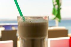 Ice-coffee in the beach bar Stock Photos