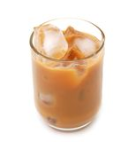 Ice coffee with chocolate. Cold fresh ice coffee with chocolate close up Royalty Free Stock Image