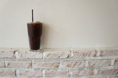 Ice coffee. Cold black coffee on the table in a coffee shop Stock Photo