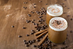 Ice coffee. With copyspace composition Royalty Free Stock Photography