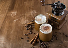 Ice coffee. With copyspace composition Royalty Free Stock Photo