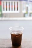 Ice Coffee on Counter Stock Photos