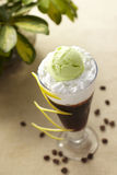 ice coffee with cream Royalty Free Stock Photography