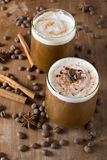 Ice coffee. With cream and cinnamon Stock Photography