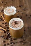 Ice coffee. With cream and cinnamon Royalty Free Stock Images
