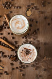 Ice coffee. With cream and cinnamon Stock Images