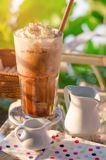 Ice coffee in glass Royalty Free Stock Image