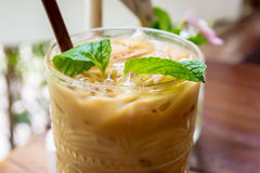 Ice coffee in a glass Royalty Free Stock Photo
