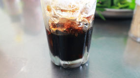 Ice coffee in glass is Vietnam. Local coffee Royalty Free Stock Images