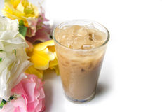 Ice coffee for hot weather. Royalty Free Stock Images