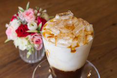 Ice Coffee with milk Royalty Free Stock Images