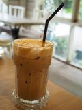 Ice coffee mocha. Ice coffee mocha in close up view royalty free stock image
