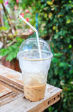 Ice coffee at the outdoor Royalty Free Stock Photos