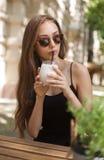 Ice coffee refreshment. Stock Photos