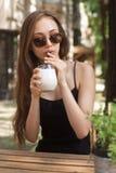 Ice coffee refreshment. Stock Image
