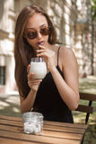 Ice coffee refreshment. Royalty Free Stock Photography