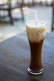 Ice coffee with straw Stock Photography