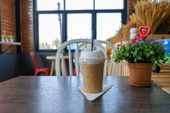 Ice coffee on table. Stock Images
