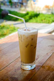 Ice Coffee on table Royalty Free Stock Image