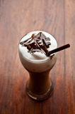 Ice coffee with topping Royalty Free Stock Images