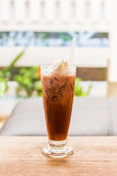 Ice coffee with whipped cream . Stock Photo