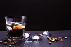 Ice coffee with whiskey Stock Photography