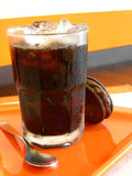 Ice Coffee With Cookie 2 Stock Images