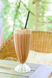 Ice Coffee on the wooden table Stock Photo