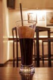 Ice coffee on wooden table Royalty Free Stock Photos