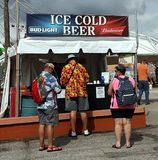Ice Cold Beer Booth Royalty Free Stock Images