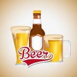 Ice cold beer emblem. Illustration design Stock Image