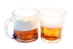 Ice Cold Beer, In Glasses Royalty Free Stock Photography