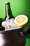 Ice cold beer and lemon Royalty Free Stock Photos