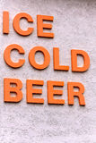 Ice Cold Beer Sign Royalty Free Stock Photos