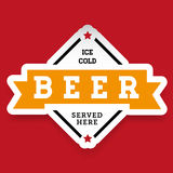 Ice cold Beer vintage stamp Royalty Free Stock Image