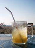 Ice cold drink. An ice cold drink at the beach royalty free stock images
