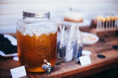 Ice Cold Drink Vintage Party Decorations Apple Cider Royalty Free Stock Photography