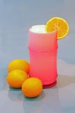 Ice cold glass of lemonade Royalty Free Stock Image