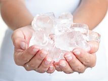 Ice cold hands Royalty Free Stock Photo