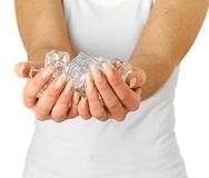 Free Ice Cold Hands. Stock Photography - 21939182