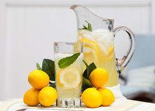 Ice Cold Lemonade With Mint Stock Photo