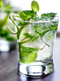 Ice cold mojito cocktail Stock Photo